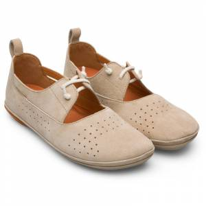 Camper Right, Zapatos planos Mujer, Beige , Talla 39 (EU), K200441-013