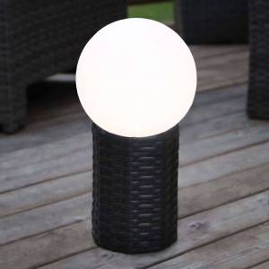 Best Season Esfera LED solar Lug con base, Ø 20 cm