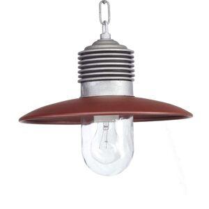 K. S. Verlichting Lámpara clásica suspendida ext. Ampere alum./rojo