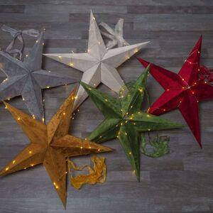 Best Season Estrella Velvet, cadena de luces LED Dew Drop rojo