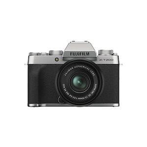 Fujifilm X-T200 Plateado KIT XC 15-45mm F3.5-5.6 OIS PZ Negro