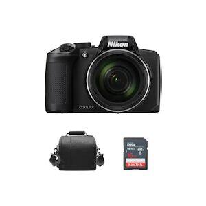 Nikon Coolpix B600 Negro + bolsa para camara + tarjeta SD de 16GB