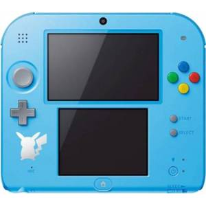 Nintendo 2DS Pokemon Sun/Moon Azul (Sin Juego), Sin Caja