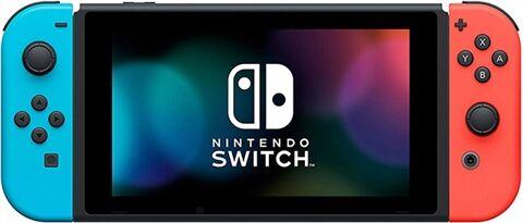 Switch Consola, 32GB HAC-001-01 + Neon Azul/Rojo Joy-Con, Sin Caja