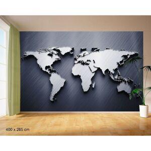 HOMEMANIA Murales Mundo de Papel - de Wall, Wall - para la sala de estar, la habitacion - Multicolor en Papel Semi-Brillante, 400 x 265 cm