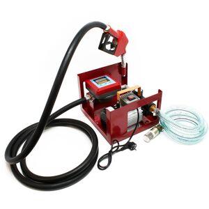 WILTEC Bomba diesel Bomba de combustible autoaspirante 230V 550W 60l/min Contador - WILTEC