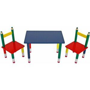 Harms - grupo de la tabla de los niños de alta calidad sillas de madera maciza muebles pintados sala de juegos colorido daña 303990
