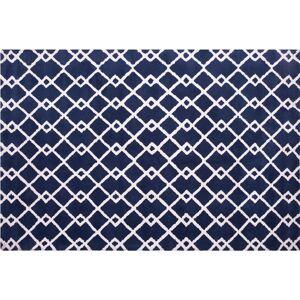 BELIANI Alfombra de pelo corto 140x200 cm azul SERRES - BELIANI