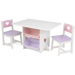 KIDKRAFT Kid Kraft Mesa para niños con 2 sillas corazones - KIDKRAFT