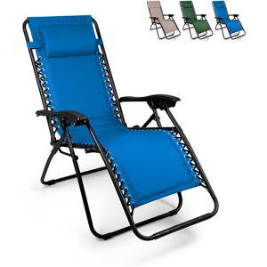 Beach And Garden Design - EMILY PUMP tumbona plegable de playa y jardín multiposición Zero Gravity   Azul Marino