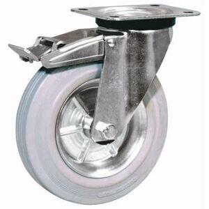 LAG Rueda giratoria  con freno, carga 120kg, diámetro de rueda 125mm, 12262G FR