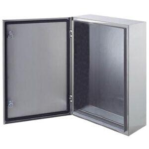 ABB Caja de pared de Acero inoxidable 304, 500 x 400 x 200mm, Sin Pintar, IP66, con placa de montaje, SRN5420X