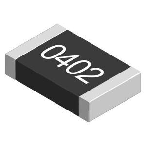 TE Connectivity Resistencia fija montada en superficie de película gruesa , 10Ω, ±5%, 0.063W, Película Gruesa, 0402 (50), CRG0402J10R/10