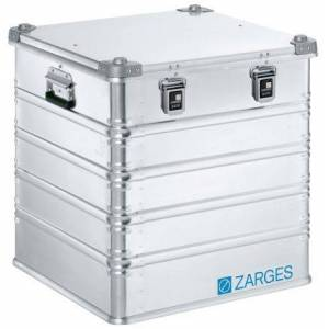Zarges Maleta de transporte  K 470 de Aluminio Plateado, dim. ext. 610 x 600 x 600mm, 8kg, 40836