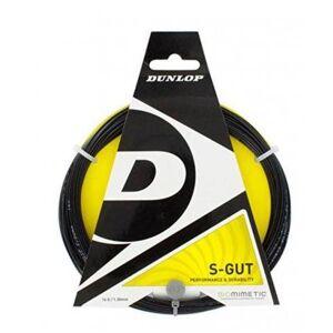 5013317156655 Dunlop Cordaje Tenis S-GUT Cordaje Negro 12 m 132 mm
