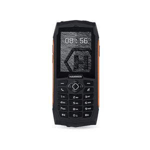 """HAMMER Móvil - Hammer 3, 2.4"""", SIM Doble, 2G, 32 MB, 2000 mAh, IP68, Naranja"""