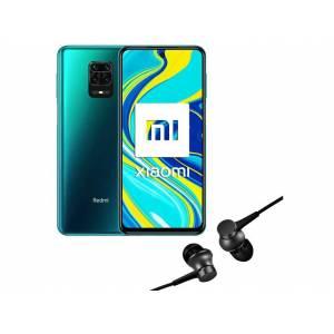 "Xiaomi Móvil - Xiaomi Redmi Note 9S, Azul aurora, 128GB, 6GB, 6.67"" Full HD+, SnapDragon™ 720G, 5020 mAh + Mi In-Ear"