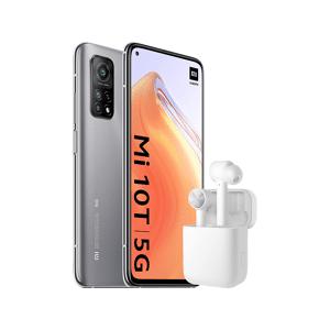"""Xiaomi Móvil - Xiaomi Mi 10T 5G, Plata, 128GB, 6GB RAM, 6.67"""" FHD+, Snapdragon 865 + Mi True Wireless Earphones Lite"""