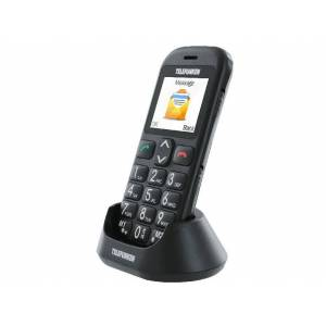 Telefunken Móvil - Telefunken TM110 Cosi, teclas grandes, botón SOS, negro