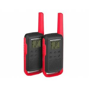 Motorola Walkie Talkies - Motorola Talkabout T6 PMR 2 Unidades 16 Canales 121 Códigos LCD Alcance 8 Km AA