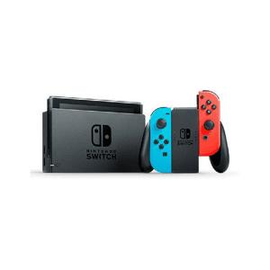 "Nintendo Consola - Nintendo Switch Modelo 2019, 6.2"", Joy-Con, Azul y Rojo Neón"