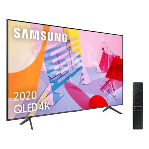 "Samsung TV QLED 55"" - Samsung QLED 4K 2020 55Q60T, Smart TV, 4K UHD, IA, Asistente de voz Integrado,Sonido Inteligente"