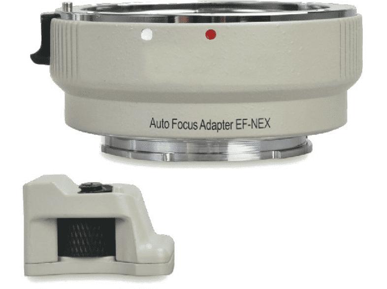 FOTIMA Adaptador para objetivos - Fotima FT-EF-NEX-W, Electrónico de montura, Blanco