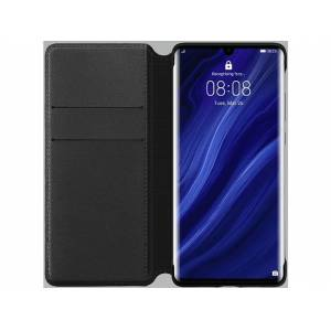 Huawei Funda - Huawei Wallet Cover, Para Huawei P30 Pro, Con tapa y tarjetero, Negro