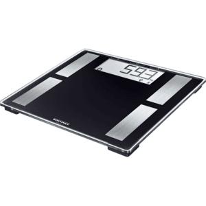LEIFHEIT Báscula de baño - Leifheit Shape Connect 50, Hasta 180 kg, Soenhle Connect-App, Plástico, Negro