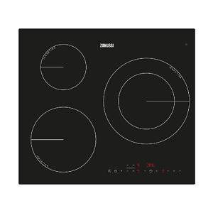 Zanussi Encimera - Zanussi ZM6233IOK, Eléctrica, Inducción, 3 zonas, 28 cm, Negro