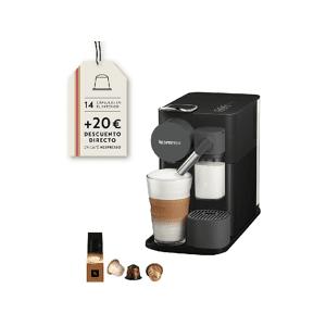 DE LONGHI Cafetera de cápsulas - Nespresso® De Longhi Lattissima One EN500.B, 19 bares, Depósito 1 L, Negro