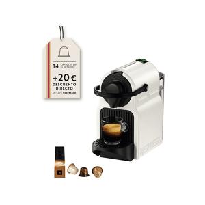 Krups Cafetera de cápsulas - Nespresso® Krups INISSIA XN1001, Presión de 19 bares, Potencia 1260 W, Blanco