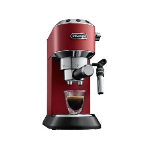 DE LONGHI Cafetera express - De Longhi EC Dedica 685.R, Bomba de presión Thermoblock, 1350 W, Rojo