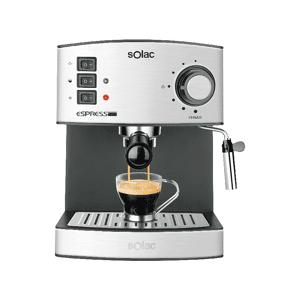 SOLAC Cafetera express - Solac CE4480, Potencia 850W, 19 Bares de presión, Depósito 1.2L, Inox