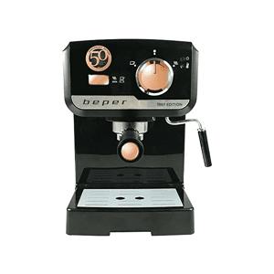 BEPER Cafetera express - Beper BC.001, 1140W, 15 bar, 1.5L, Negro