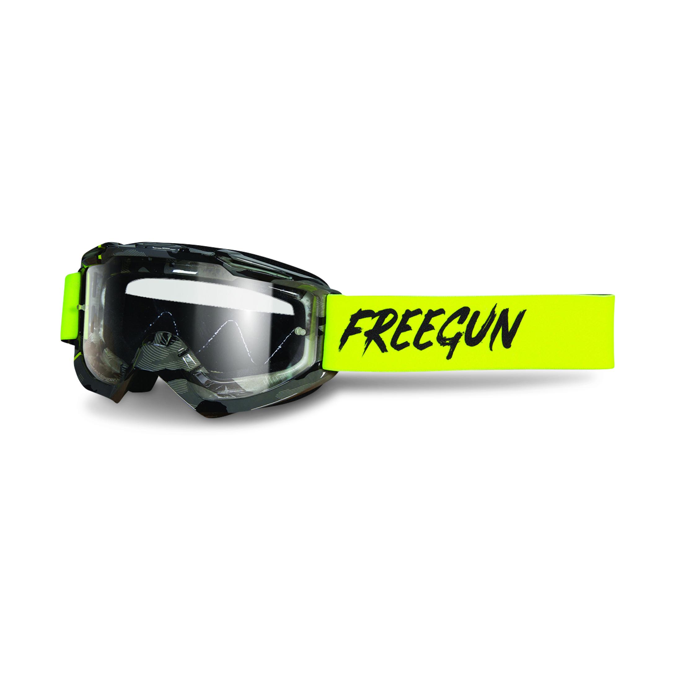 Freegun Gafas de Cross  Skill Stripe Amarillo Neón