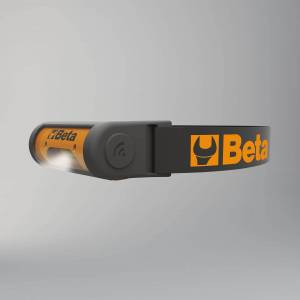 Beta Tools Linterna Beta Tools Cabeza Recargable de LED Articulada, Luminosidad Doble y Sensor ON/OFF Sin Contacto