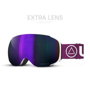Uller Gafas de esqui y Snowboard Helix Blanca  para hombre y mujer con lentes magnéticas intercambiables