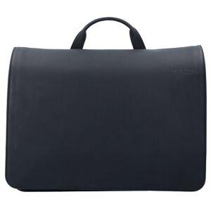 Salzen Messenger Bag piel 38 cm compartimento Laptop total black