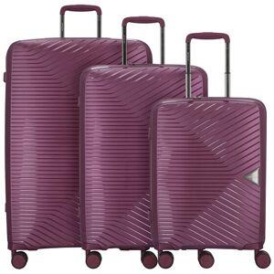 March15 Trading Gotthard Maleta 4 ruedas set 3pz. purple metallic