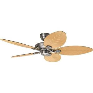 Hunter Outdoor Ceiling Fans Ip44, Aluminum And Natural Palm Blades 132 Cm