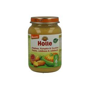 Holle Tarrito de Calabacín, Calabaza y Patata Bio 190 g - Holle
