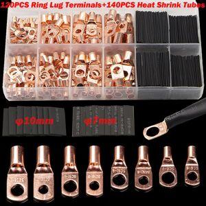 null 60/240/260CPS surtido de Auto anillo de cobre Terminal de Cable conector de crimpado Cable desnudo