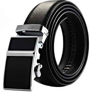 AliExpress Hombre de negocios de oro oficial negro correa para hombre vestido de cuero cinturón de cuero con