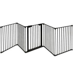 Costway Barrera de Seguridad Niño Infantil Protección Chimenea Rejilla para Mascota Metal Plegable Puerta Escalera