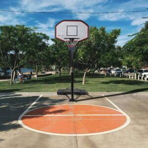 Costway Canasta de Baloncesto con Soporte Ajustable en Altura Ruedas Móviles