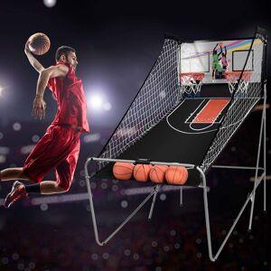 Costway Máquina de Baloncesto Plegable Juguete Contador Electrónico con Soporete 202 x 107 x 205cm