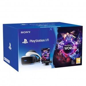 Sony PlayStation VR MK4 + VR Worlds Pantalla con montura para sujetar en la cabeza Negro, Blanco 610 g