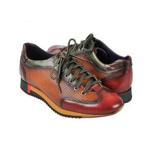 Zerimar Zapatos sneakers deportivos marron con cordones