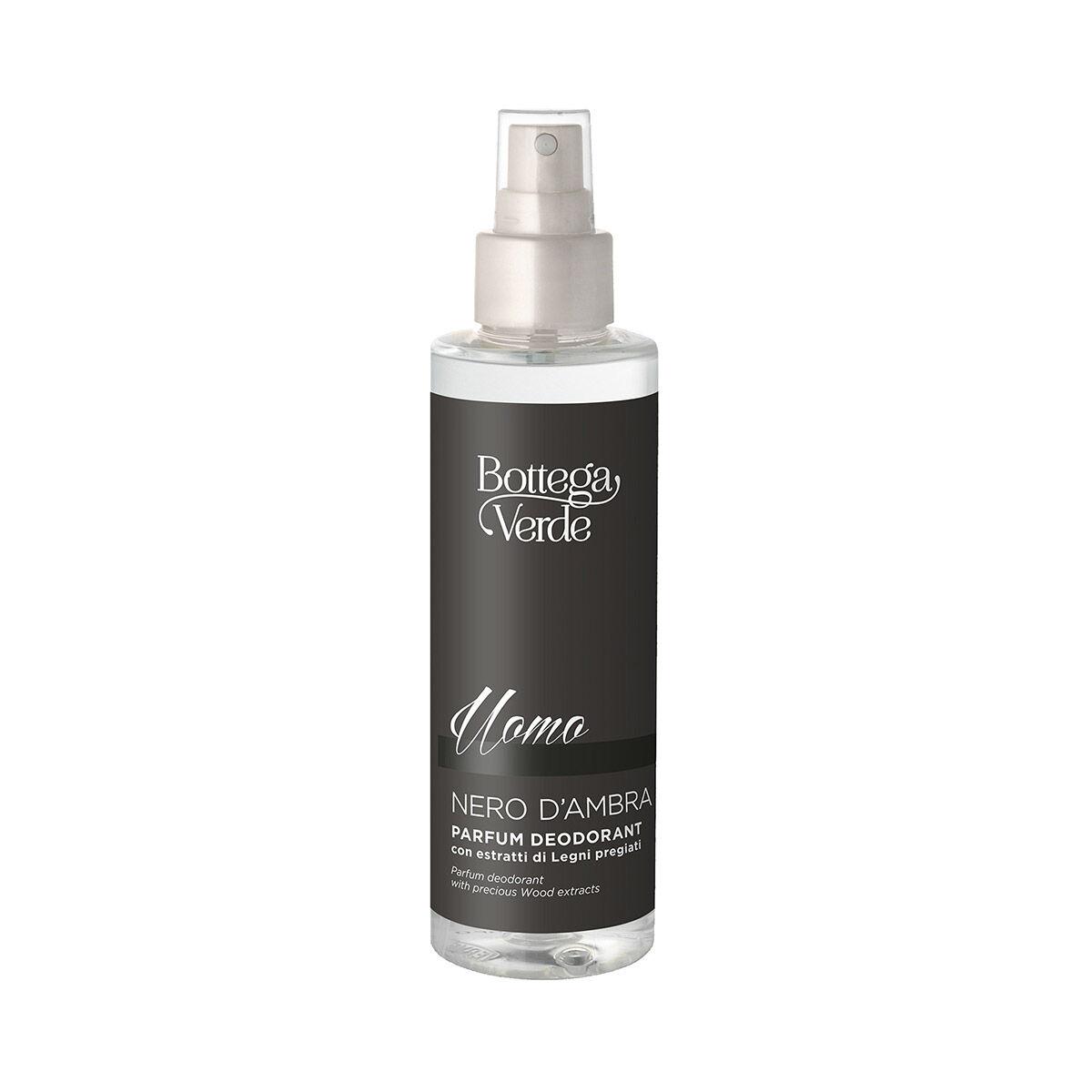 Bottega Verde Desodorante perfumado con extractos de Maderas preciosas (150 ml) Negro Ámbar